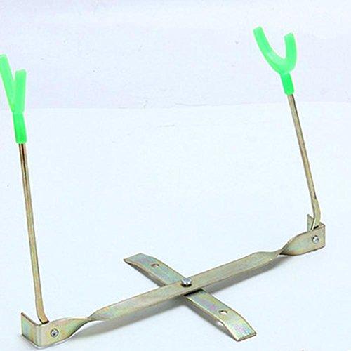 cloudwhisper 1Teleskop Faltbar Stick Hand Angelrute Pole Halterung Halter Multifunktional unterstützt Dual-Verstellbare Ice Angel Rack (Eis-rack)