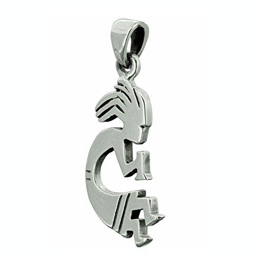 Kokopeli Flöte American Anhänger 925Sterling Silber Amulett beldiamo - Grand Flöte