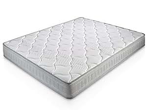 Matelas Paris 160X200 à mémoire de Forme   18 cm Épaisseur   2 cm de Mousse à mémoire de Forme de 65kg/m3   Foam AirSistem   Extrêmement Durable   Certification ISO 9001®