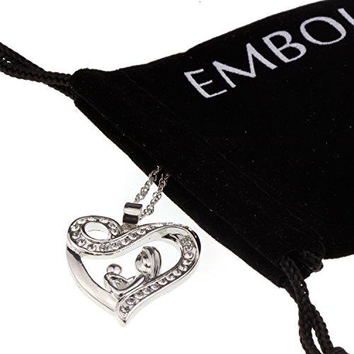 Embolden Jewelry Halskette mit Herzanhänger für Mutter und Kind, Kristall, (Hot Power Girl Kostüm)
