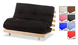 "Lilac 2ft6"" Single Bed Futon Wood Frame & Mattresses Available In A Choice Of Colours! SIZE & COLOUR : 2 FT 6"""