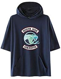 SISAY Riverdale South Side Serpents Sudadera con Capucha Unisex Camiseta Manga Corta