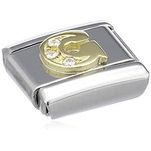 Nomination Comp. Classic BUCHST. Edelstahl, 18K-Gold und Cubic Zirc. (G) 030301