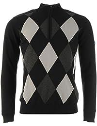 Slazenger Mens Half Zip Argon Lined Golf Sweater Diamond