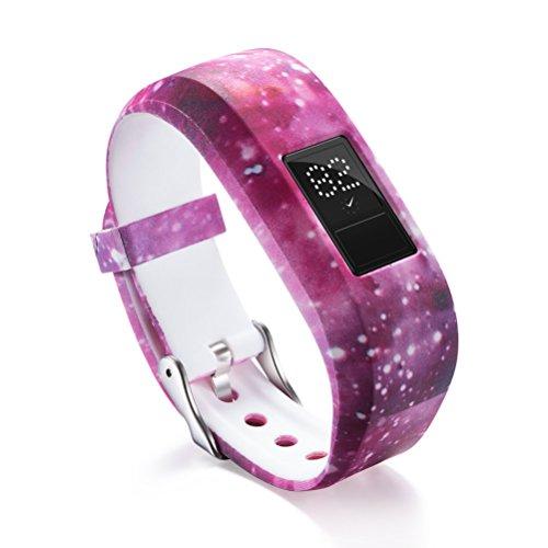 ivofit JR/JR 2 Armband, bedrucktes, weiches Silikon Fitness-Band Sportarmband Ersatzarmband Armband für Garmin Vivofit JR/JR 2 Smart Watch M 5740 ()