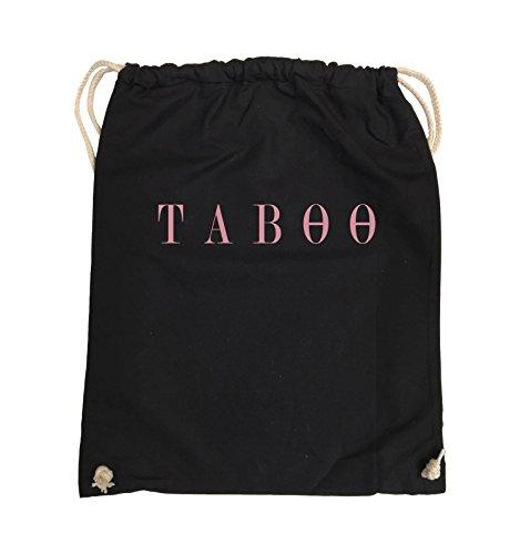 Borse Comedy - Taboo - Logo - Borsa Girevole - 37x46cm - Colore: Nero / Argento Nero / Rosa