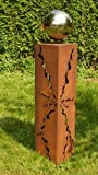 Rostsäulen Gartendeko 2017 Stehle Rost Säule 60cm Garten Skulptur