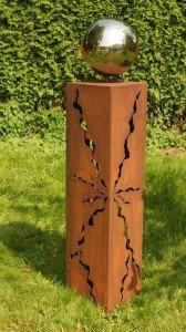 Rostsäulen Gartendeko 2015 Stehle Rost Säule 60cm Garten Skulptur