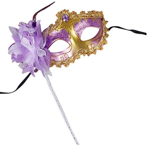l Prinzessin Venedig Krone Maske Hand Held (Hand-held-maskerade-masken)