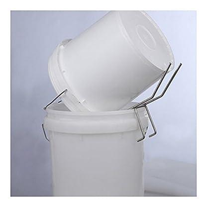 Bee Honey Bucket Rack Holder Stainless Steel Easy Pour Honey 5