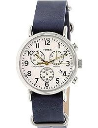 7b87a4155b03 Timex Reloj Analogico para Unisex de Cuarzo con Correa en Cuero TW2P62100