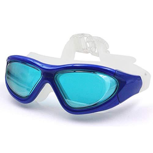 WANGJISHENG HD-Antibeschlagschutzbrillen, Erwachsenenschutzbrillen für Herren und Damen, Galvanotechnik für professionelle Taucherausrüstung, transparent dunkelblau
