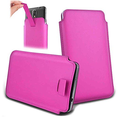 Handytasche für Smartphones zwischen 143x73x7mm bis 151x79x10mm aus strapazierfähigen Kunstleder. Schöne Handyhülle mit bedruckten Designs / Motiven und Ausziehschlaufe. Farbe : pink