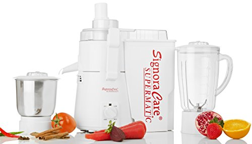 Signoracare 900 Watts Supermatic 2 Jar Juicer Mixer Grinder -white