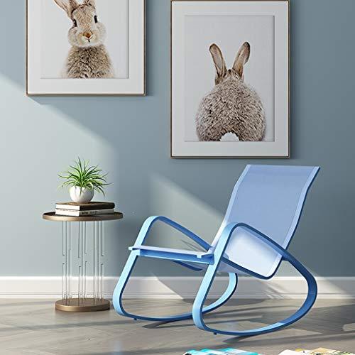 LF Chaise paresseuse à Bascule Adulte Balcon inclinable Chaise Longue paresseuse Siesta Design humanisé (Couleur : Bleu)