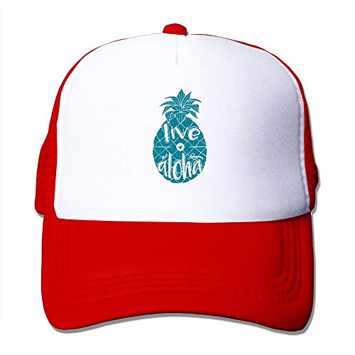 Sdltkhy Unisex Live Aloha Pineapple Two Tone Trucker Hat Mesh Back Cap - The Great Outdoors Cool28425