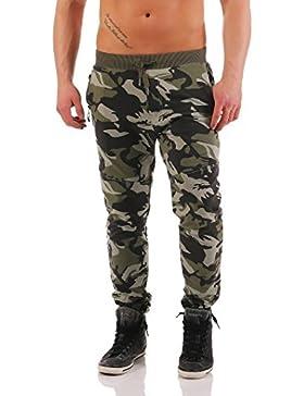 Herren Jogginghose Trainingshose Sporthose Fitness im Camouflage Design Sweat Freizeithose Jogger Sportswear A...