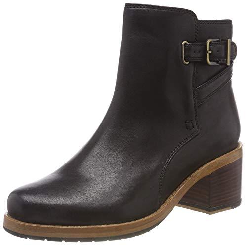 Clarks Damen Clarkdale Jax Stiefeletten, Schwarz (Black Leather), 39.5 EU