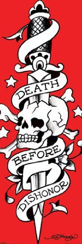Before Dishonor Skull Tattoo Art Tür Poster 53cm x 158cm ()