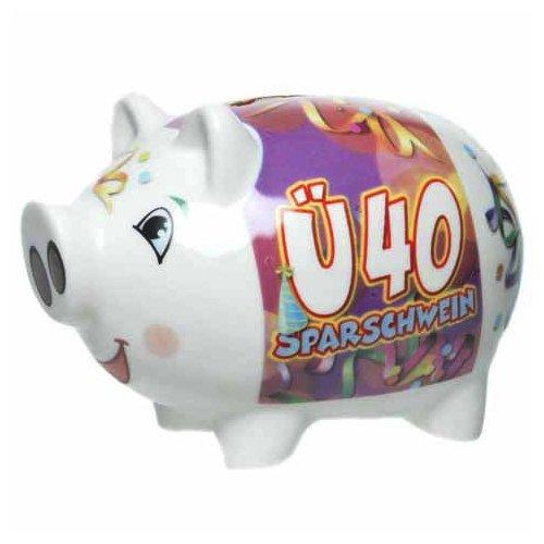 Preisvergleich Produktbild Sparschwein aus Keramik 37302 - Ü40