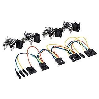 popprint tmc2130V1.1SPI Motor Driver Silent Board mit Kühlkörper und einem AET Draht für 3D Drucker (tmc21304Stück)