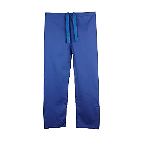 Unisex Budget Medical Scrub TROUSERS - 6 colours available - Navy, Blue, Green and more … (M, Royal