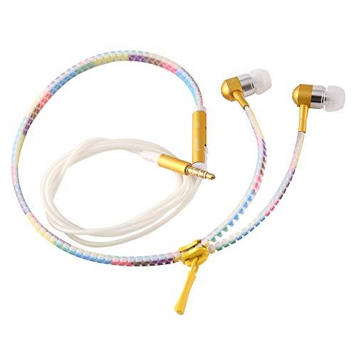 chtung In-Ear-Kopfhörer Kopfhörer Licht Reißverschluss Ohrhörer Headset Gelb ()