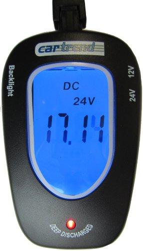 Cartrend 80127 Probador de batería 12 Voltios / 24 Voltios, con indicador...