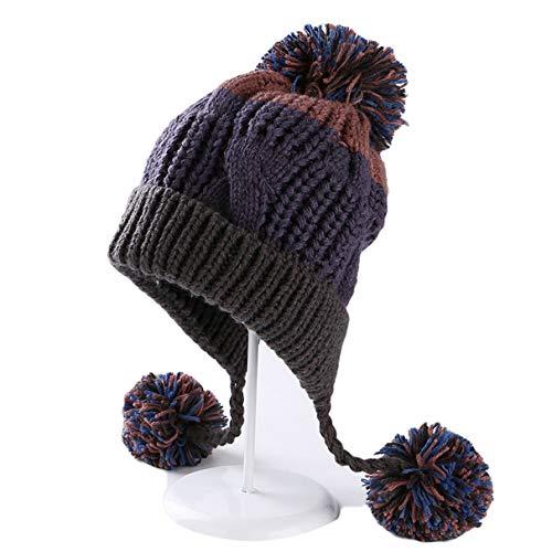Femmes Filles À La Mode Mignons Bonnets Doux Fourrure De Pom Pom Tricoté Chaud Femme Hiver Skullies Chapeaux