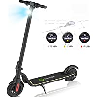 CHIC Waterproof Foldable Electric Scooter, LCD Display, 250W, 22 km Long-Distance Battery, up to 25 km/h, Easily Foldable and Portable E-Scooter for Children and Adults-Black