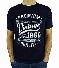 Idea Regalo - My Generation Gifts Vintage Year - Aged To Perfection - Regalo di Compleanno per 60 Anni Maglietta da Uomo Blu Marino L