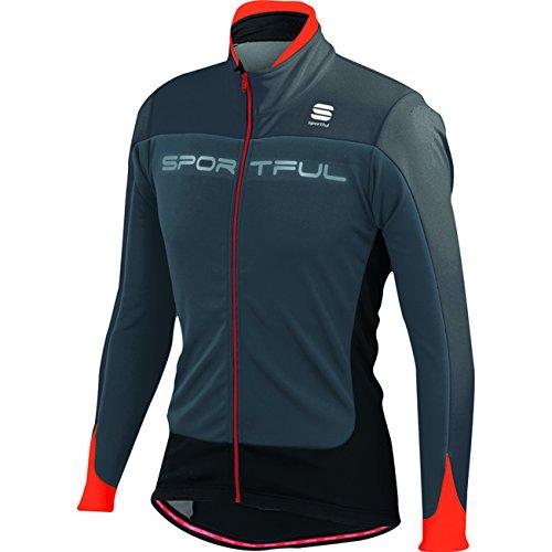 Sportful Flash Softshell Jacket, Giacca da Bici Uomo 1101275 (Grigio/Rosso/Nero, XL) Grigio/Rosso/Nero