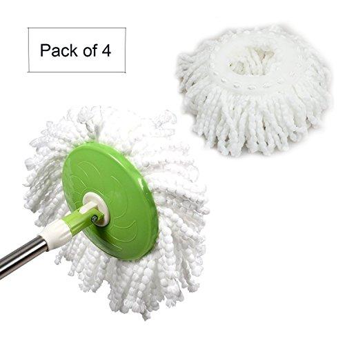 Repuesto de mopa de microfibra para mopa giratoria Hurricane 360º, 4 unidades.