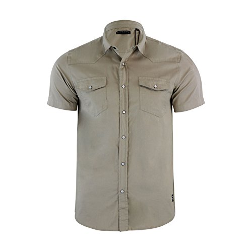 Brave Soul - Chemise casual - Homme Stone