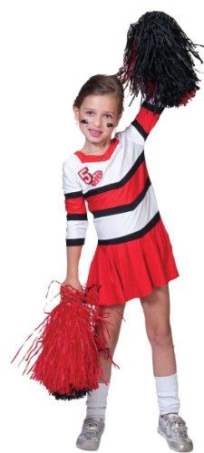 ESPA / FunnyFashion Pompom-Girl-Kostüm für Mädchen