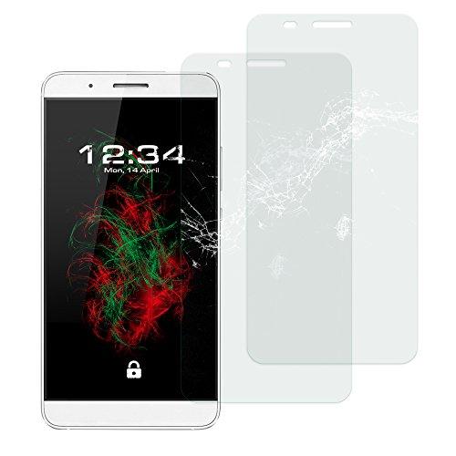 Baluum 2x Glasfolie für Huawei Honor 7i klare Bildschirmschutzfolie 9H Echt Glas-folie Clear Tempered Glass Screen protector Glas Durchsichtige Schutzfolie für Huawei Honor 7i (Glasfolie-Klar 2x)