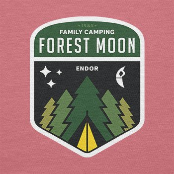 Texlab–Family Camping Forest Moon–sacchetto di stoffa Pink