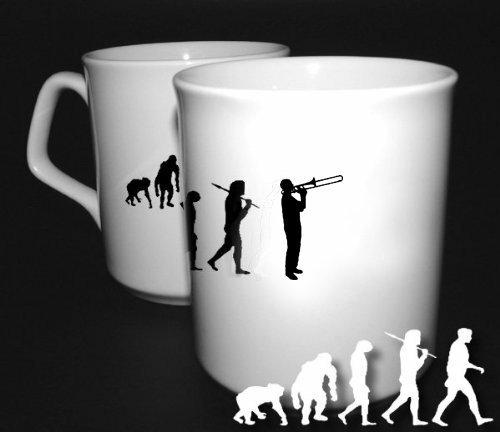 Preisvergleich Produktbild Posaune Posaunist Trombone Evolution BÜROTASSE BUEROTASSE TASSE KAFFETASSE MUG