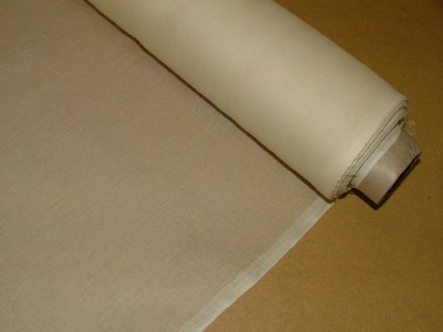 50 Mts Cream Cotton Muslin Voile Fabric Curtain