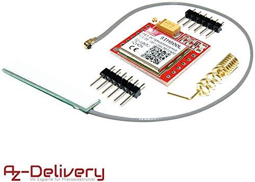 AZDelivery SIM800L GSM GPRS Modul mit Antenne für Arduino