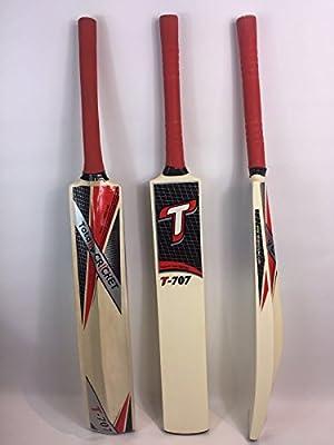 Pelota de tenis/cinta T707bate de críquet, tamaño Senior, caña Hadel, Toe vigilado, 36
