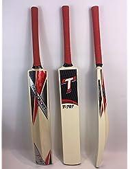 """Pelota de tenis/cinta T707bate de críquet, tamaño Senior, caña Hadel, Toe vigilado, 36"""""""