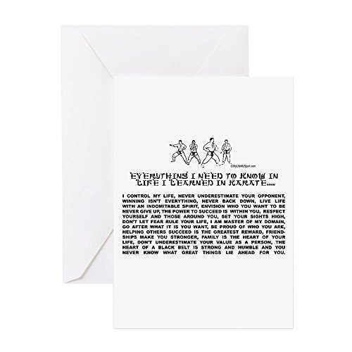 CafePress-Alles muss ich wissen, in life-karate Grußkarte-Grußkarte, Note Karte, Geburtstagskarte, innen blanko, glänzend