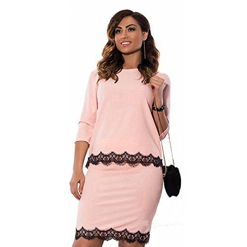 DD UP Damen Übergröße 3/4 ärmel Kleid Elegantes Abendkleid Cocktailkleider Taille Plus (Finden Sie über Die Plus Größe Kleid)