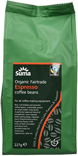 Suma Organic Fair Trade Espresso Coffee Beans 227 g (Pack of 6) 41LMnYu6PSL