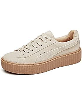 YORWOR Creepers Scarpe Stringate Basse Donna Sneaker