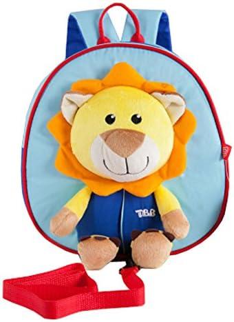 dessin animé mignon cartable / sac à dos maternelle, bleu et jaune / lion B00YA3JH5W   Outlet Store