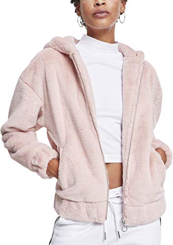 Urban Classics Damen Ladies Teddy Jacket Jacke, Pink (Rose 01075), X-Small