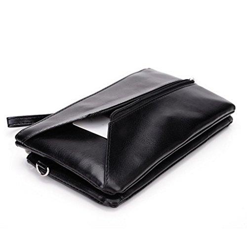Kroo Femme pour Pocketbook pour Smartphones, phablettes 15cm, Compatible avec Nokia Lumia 1520 Grey and Magenta Noir/gris