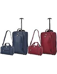 Lot de 2 Ryanair Cabin 55x40x20cm Approuvé & Second 35x20x20 Main Luggage Set - Carry on Les Deux Articles!